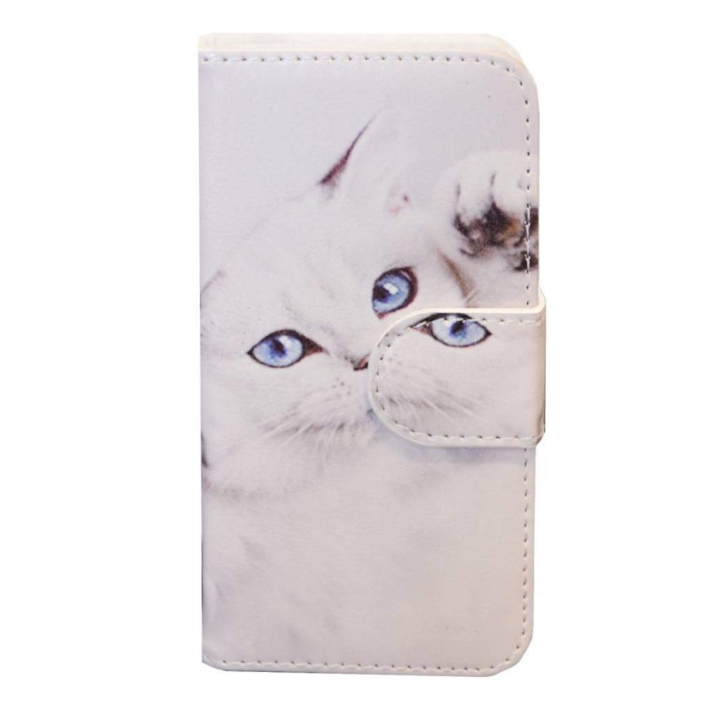 Galaxy S3 Mini i8190 White Cat Book Case
