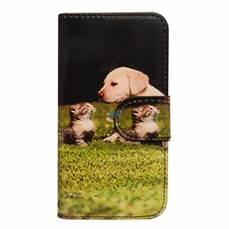 Kitty & Dog Book Case Galaxy A3
