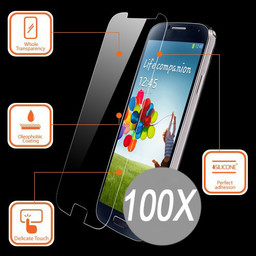 100X Tempered Glass Protector IPhone 6/6S