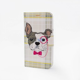 Glasses Dog Print Galaxy J5 Bookcase