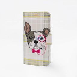 Glasses Dog Print Galaxy S3 Bookcase