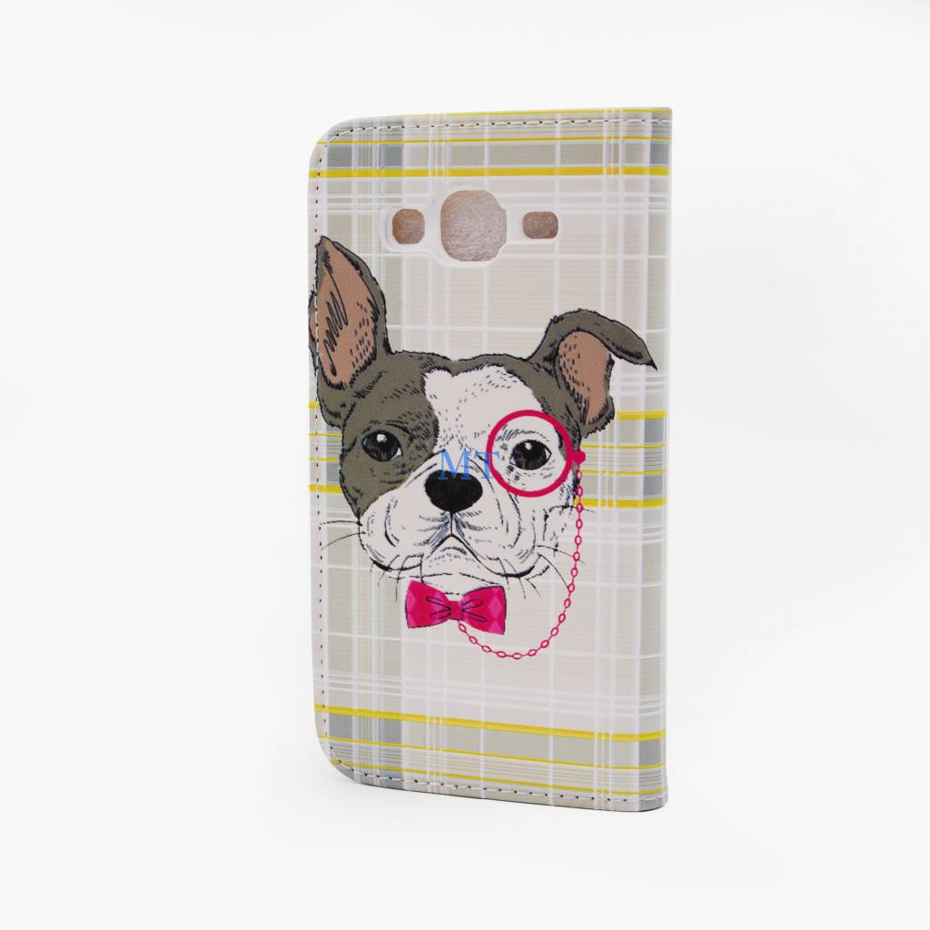 Glasses Dog Print Galaxy S3 Bookcase