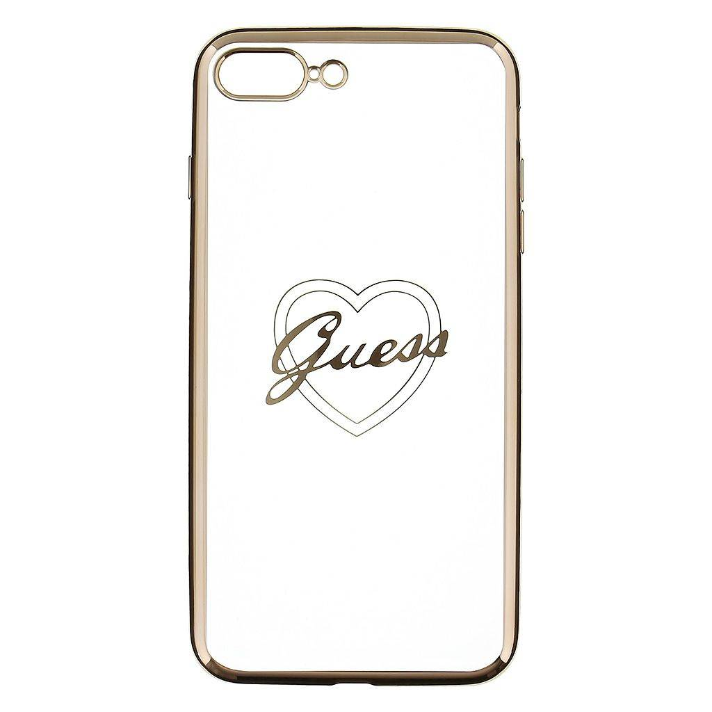 Guess Silicone Case Heart Iphone 7 Silver