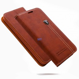 Natural Leather Book Case iPhone 6 Plus