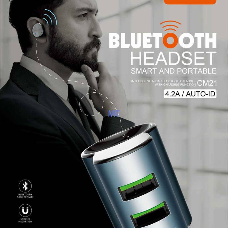LDNIO Ldnio CM21 Bluetooth Headset & Car Charger