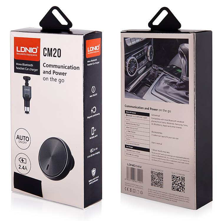 LDNIO  CM20 Mono Bluetooth / Headset Car Charger
