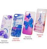 Mix 3x Print Diamond Ring TPU Case Galaxy J330 (2017)