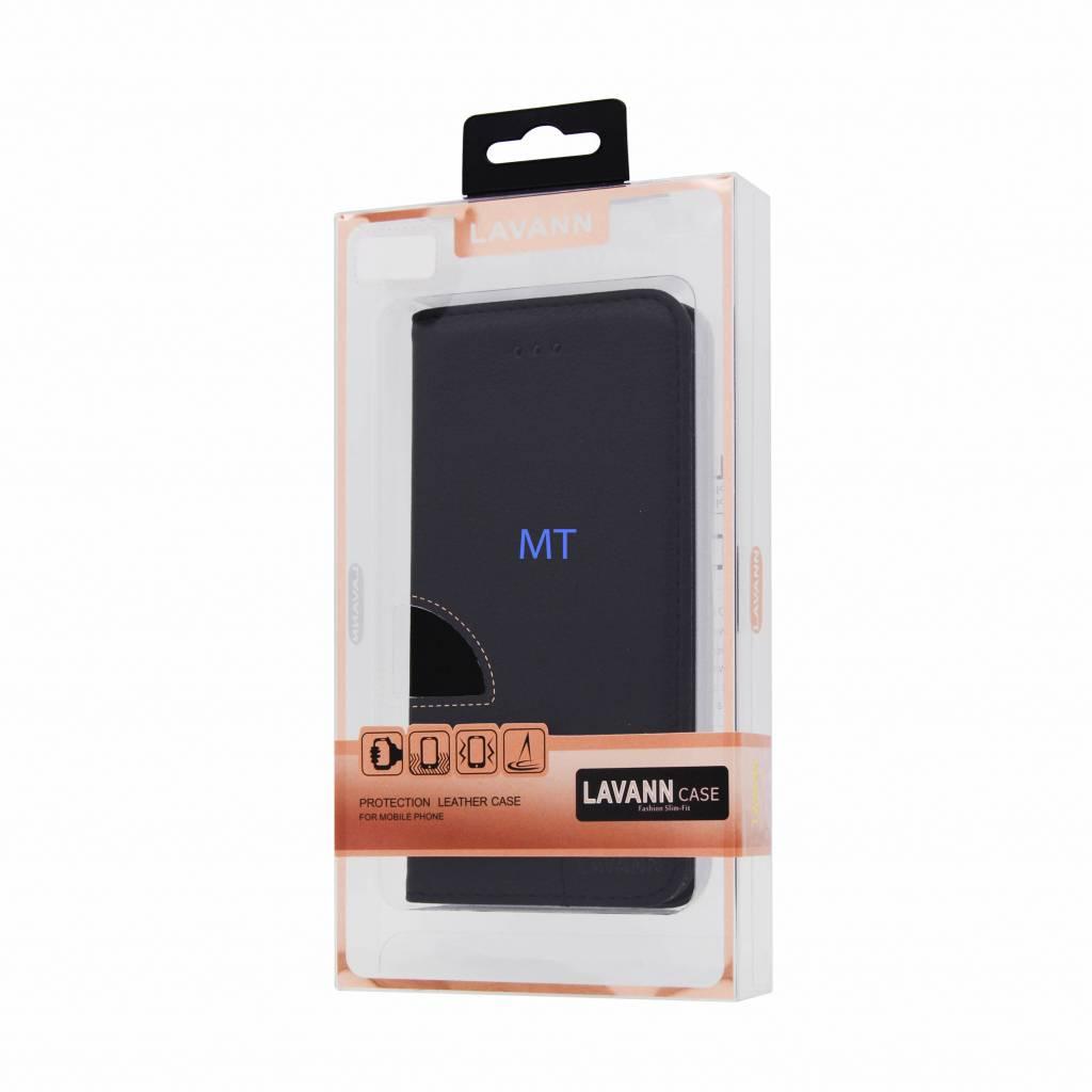 Lavann Lavann Leather Book Case For I-Phone 8
