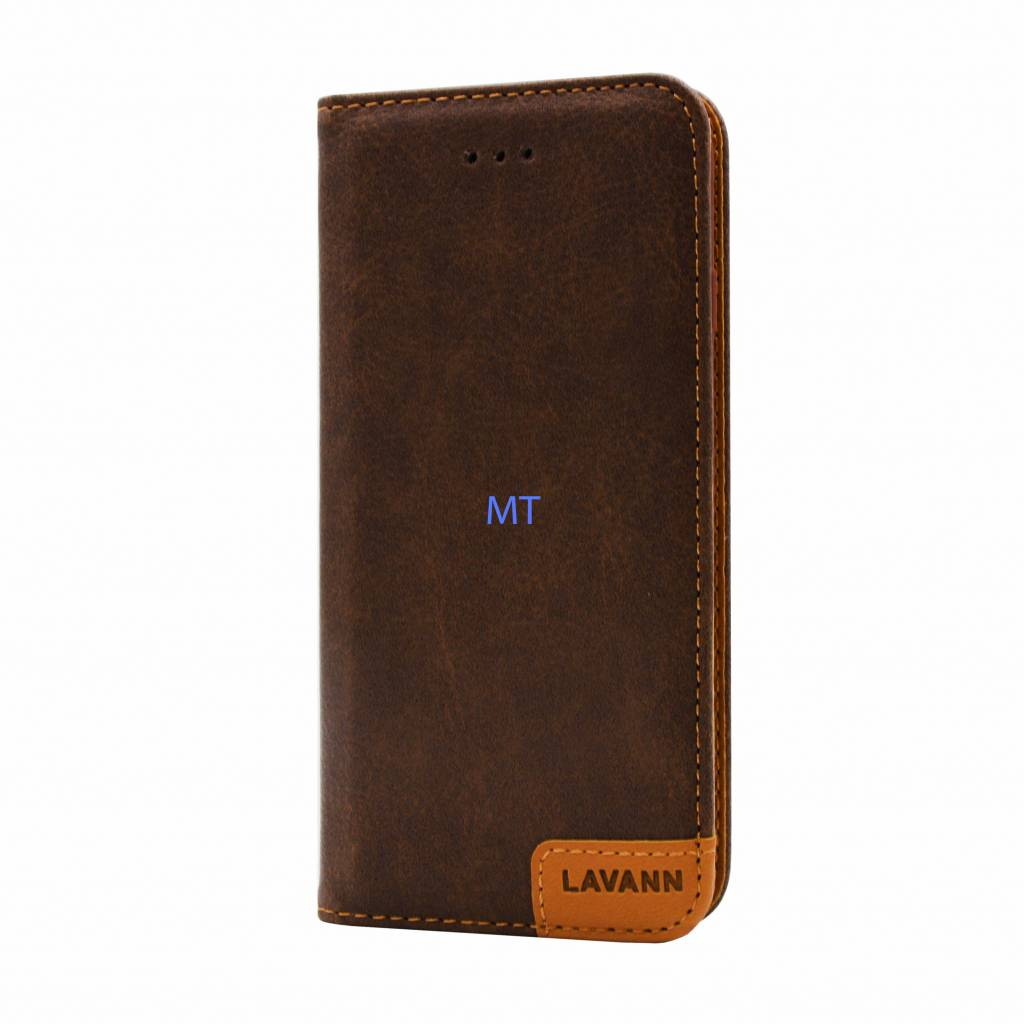 Lavann Leather Book Case For I-phone 7 Plus