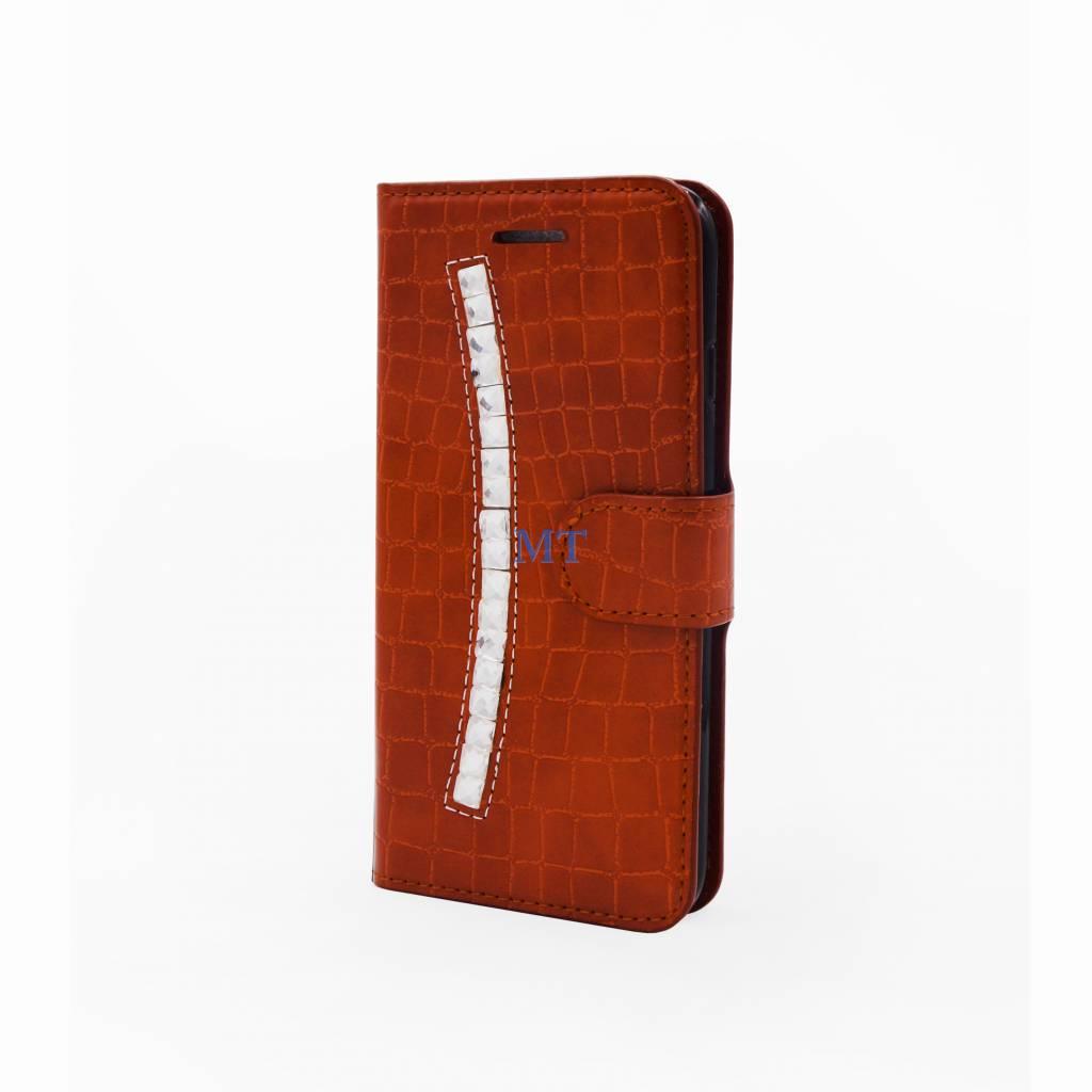Fashion Croco bookcase Ascend P8 Lite (2017)