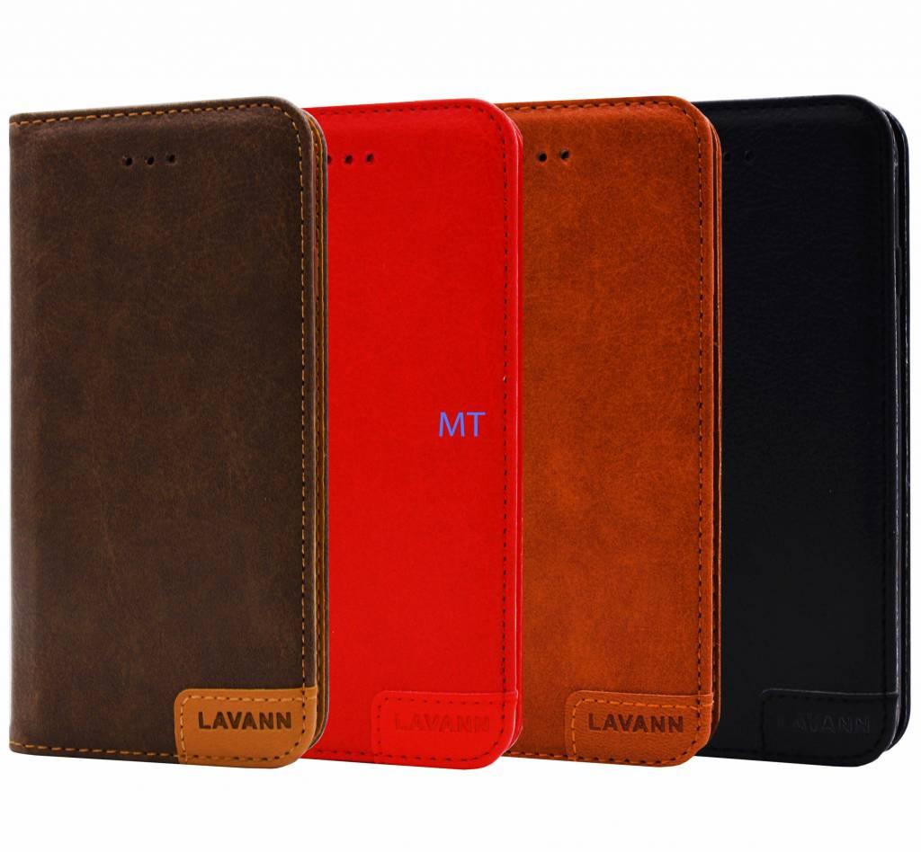 Lavann Lavann Leather Book Case For I-phone 8 Plus