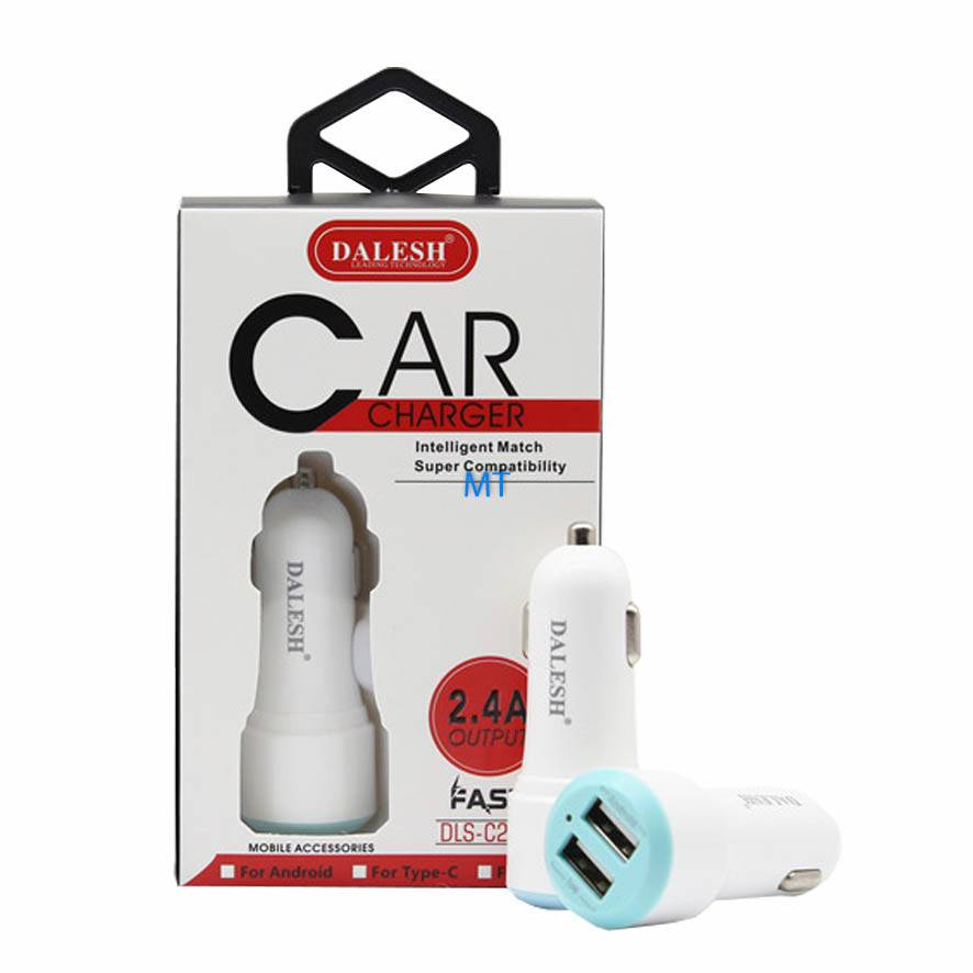 Car Charger Intelegent Match USB Dual 2.4A Dalesh C29U Lightning