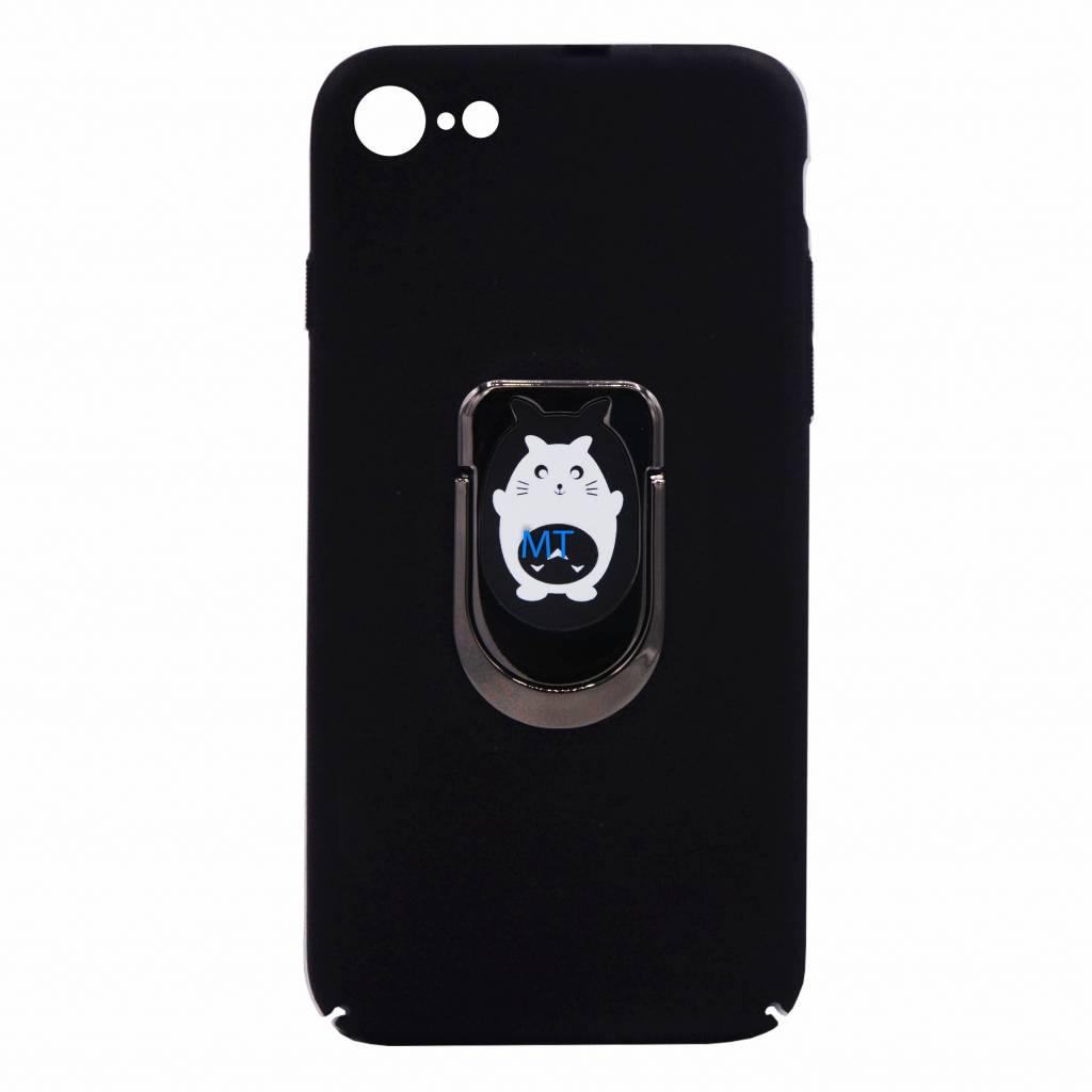 Cat Print Magnetic & Holder Case i-Phone 6G
