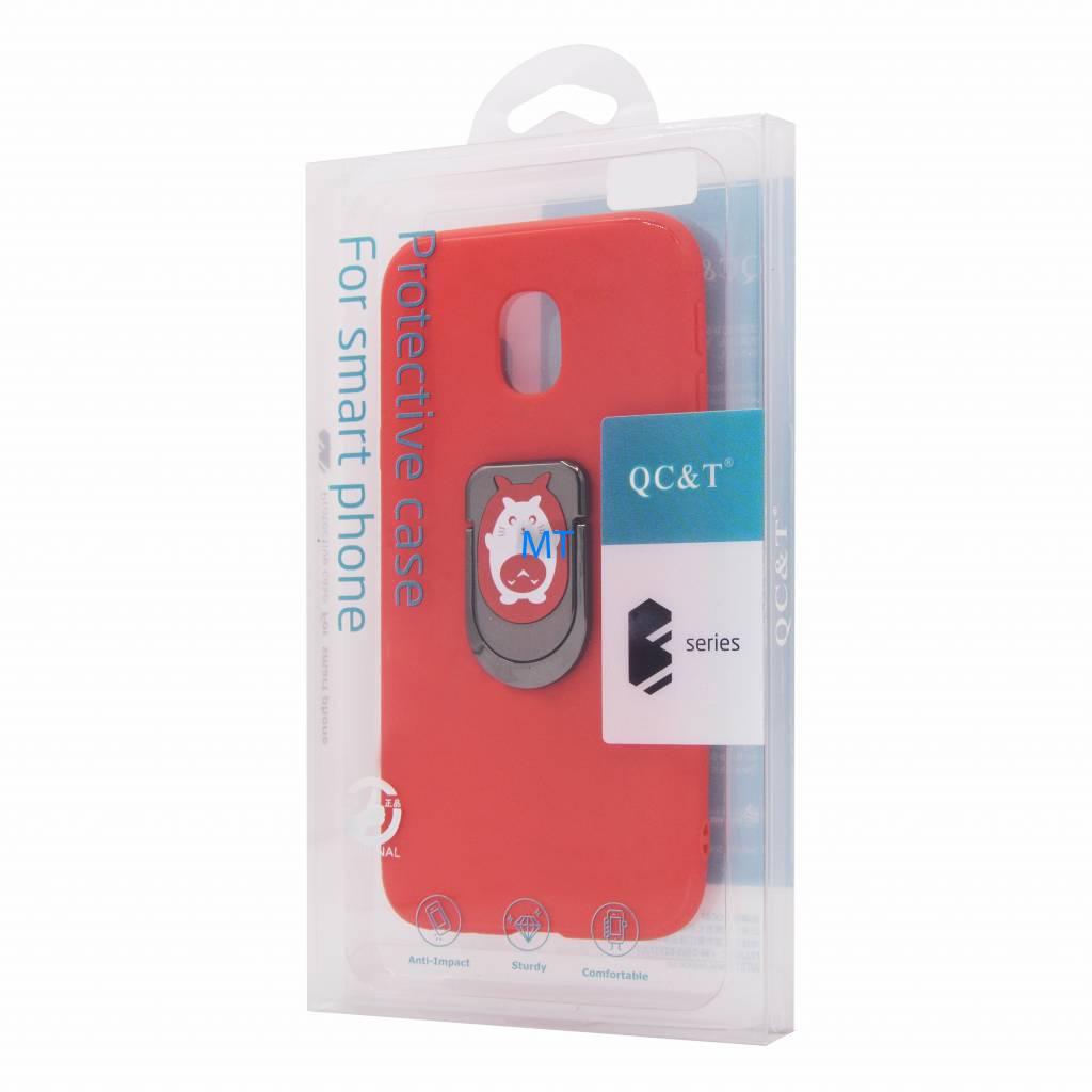 Cat Print Magnetic & Holder Case i-Phone 10