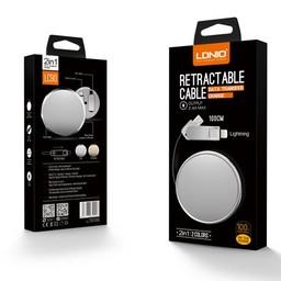LDNIO Retractable Cable (LC90) Lightning 100CM