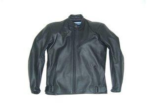 MJK Leathers Simply Black Leren Motorjack voor Heren