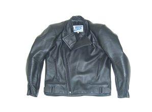 MJK Leathers Traveller II Zwart Leren Motorjack voor Heren