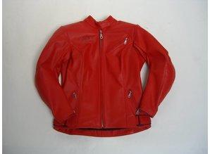 MJK Leathers Simply Red Leren Motorjack voor Dames