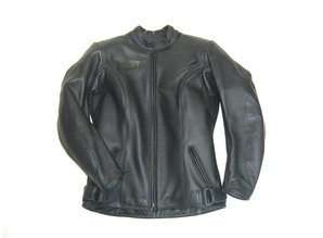 MJK Leathers Simply Black Leren Motorjack voor Dames