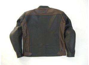 MJK Leathers Twin Tone Black-Brown Leren Motorjack