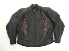 MJK Leathers Mirage Motorjack zwart/bruin
