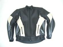 MJK Leathers Mirage Motorjack zwart/beige/metalic