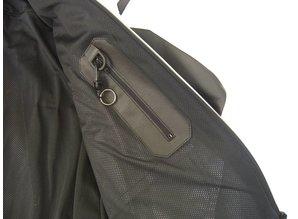 MJK Leathers Mirage zwart/beige/metalic Leren Motorjack