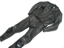 MJK Leathers Black Carbon Cota leren combipak