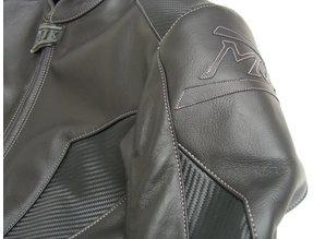MJK Leathers Black Carbon Cota Leren Combipak Heren