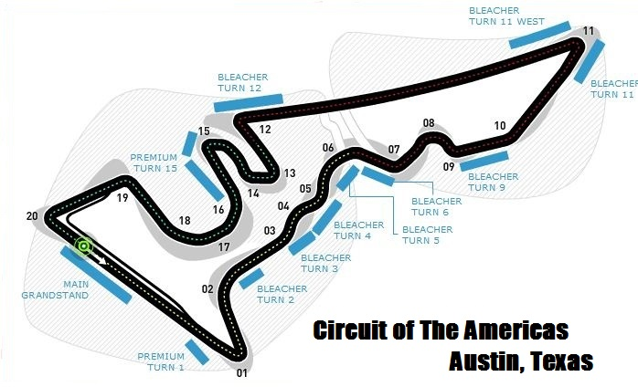 COTA race circuit