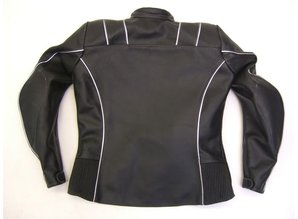 MJK Leathers Retro Reflex Leren Motorjack voor Dames
