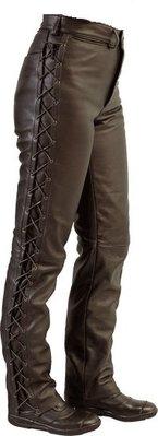 MJK Leathers String/Veter Jeans Leer