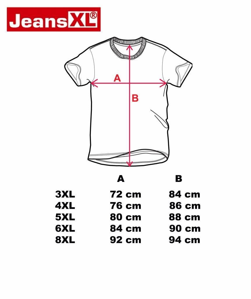 JEANSXL 732 Grote maten Zwart T-shirt