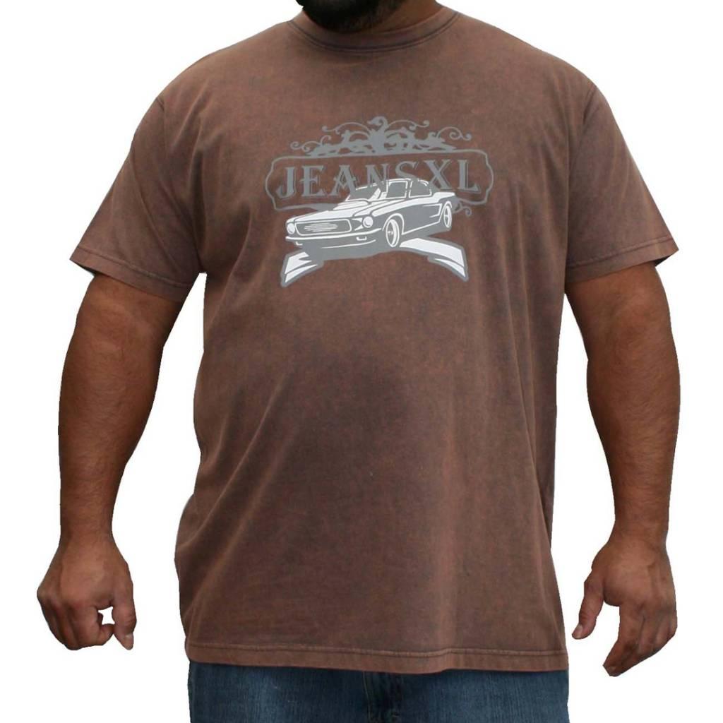 JEANSXL 729 Grote maten Bruin T-shirt