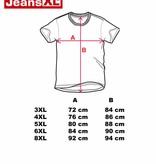 JEANSXL 768 rode grote maten T-shirt