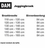 VANDAM 4401 Grote maten Zwarte Joggingbroek