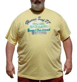 DAGIO 11702 gele grote maten T-shirt