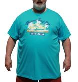 DAGIO 11701 blauwe grote maten T-shirt