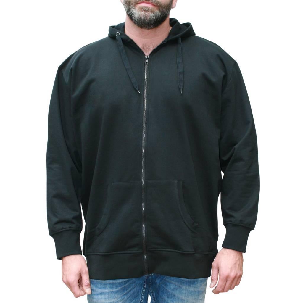 VANDAM 8801 zwarte grote maten sweat cardigan