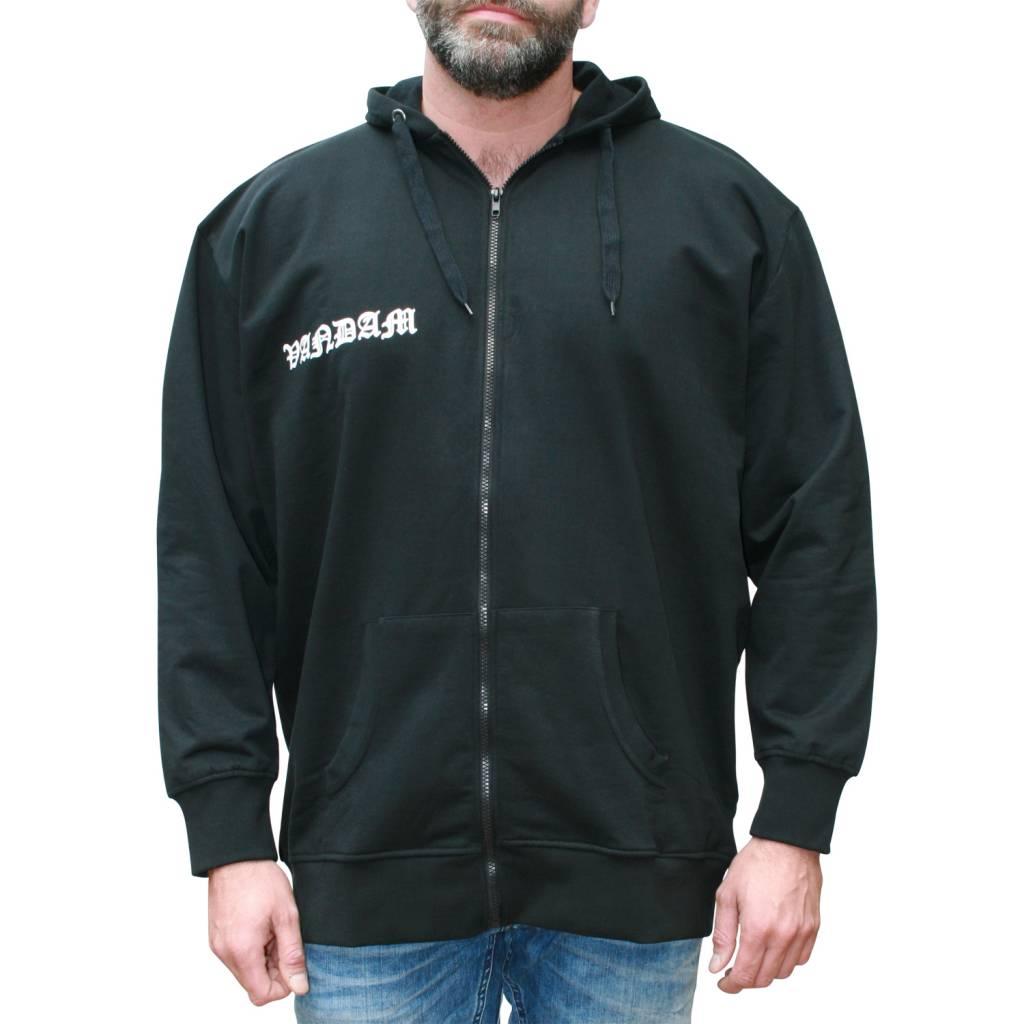 VANDAM 8810 zwarte grote maten sweatcardigan