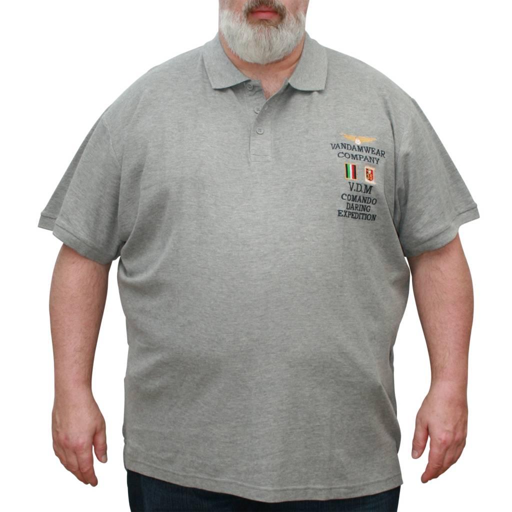 VANDAM 6623 Grote maten Melange Polo