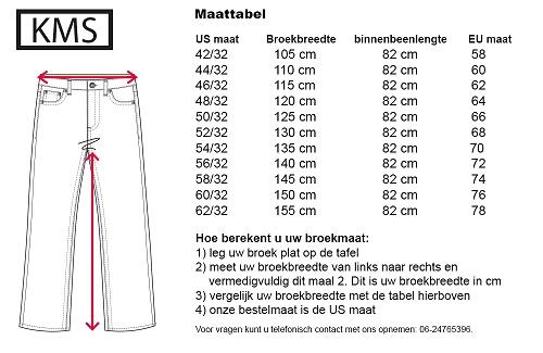 KMS 511 Grote maten Khaki Sportbroek