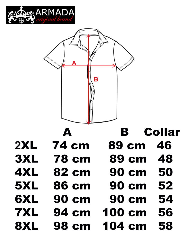 Heren Overhemd Maattabel.Maattabel Grote Maten Xl Borst Omvang Grote Maten Winkel
