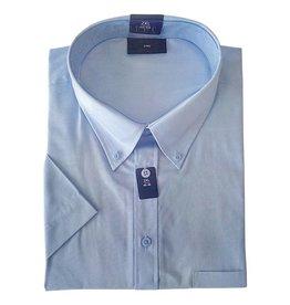 Kingsize Brand SS500 licht blauwe grote maten overhemd korte mouw