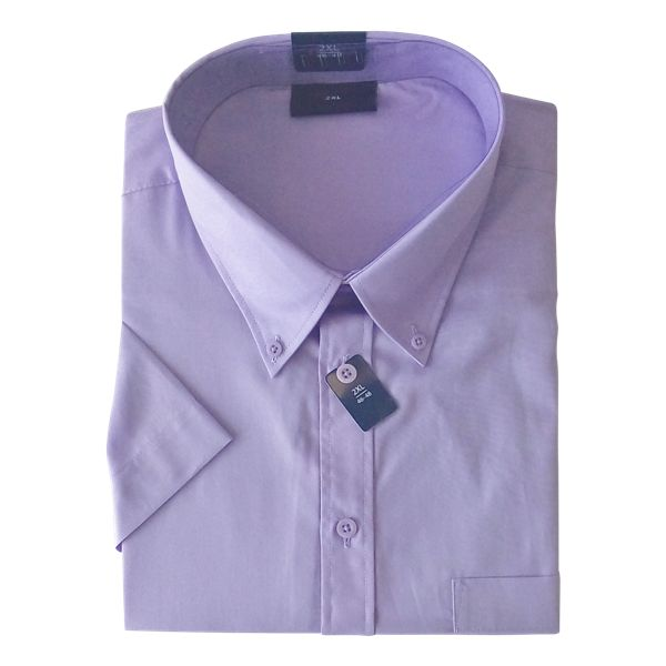 Kingsize Brand SS160 lila grote maten overhemd korte mouw