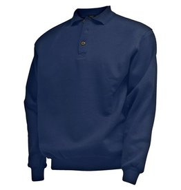 CAMUS 381106 Navy blue grote maten polo sweater
