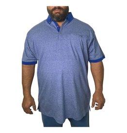 Kingsize Brand P996 Grote maten Blauwe Polo