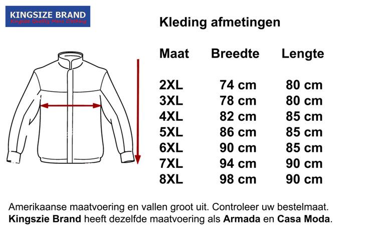 "Kingsize Brand JT055 Grote maten Lichtblauwe Zomerjas ""Airforce Pilot"""
