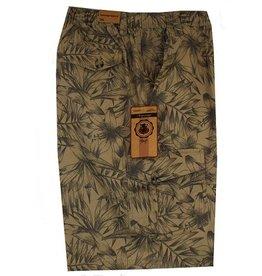 Kingsize Brand ST039 Khaki grote maten printed bermuda