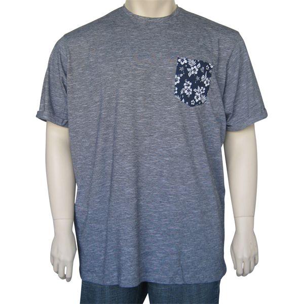 Kingsize Brand T2231 grote maten navy slub T-shirt
